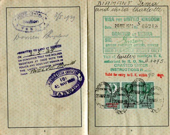 Mother's passport and visa