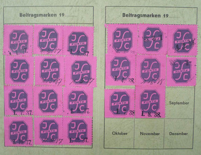 Heinz moved to Hamburg to attend language school in the summer of 1938 so his sports club membership card was stamped up until September of that year