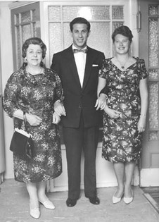 With the two women in my life, 1962