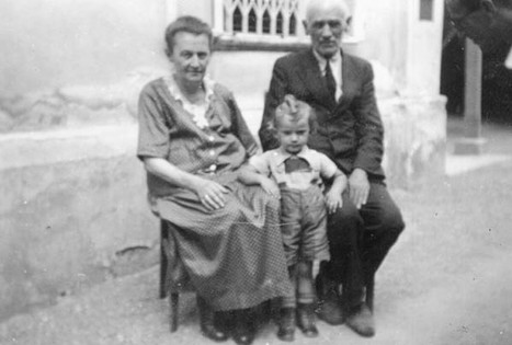 With maternal grandparents in Mödling