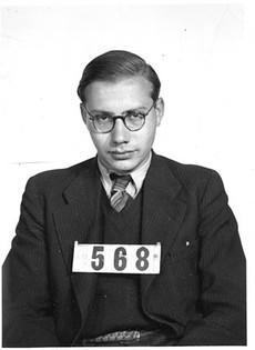 Heinz entering internment camp 1940