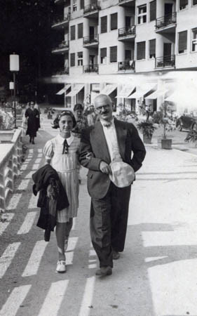 Margarete with her father in Bled