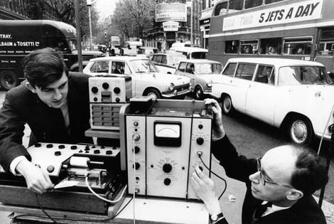 Measuring traffic noise for the GLC, 1966