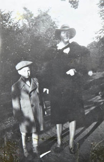 Tom with his mother