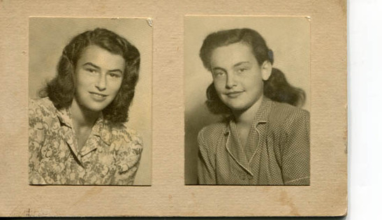 Cousin Agnes (left) and Katinka
