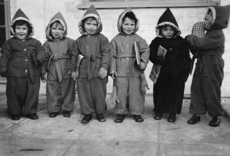 Left to right Bela, Gadi, Judith, Jack, Berli, Gittel in 1945