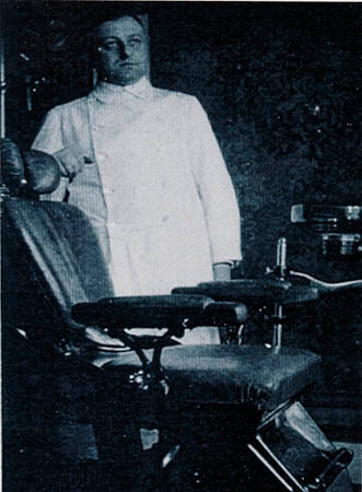 Rudi's father, Hans Librowicz, at his dental surgery in Berlin 1928