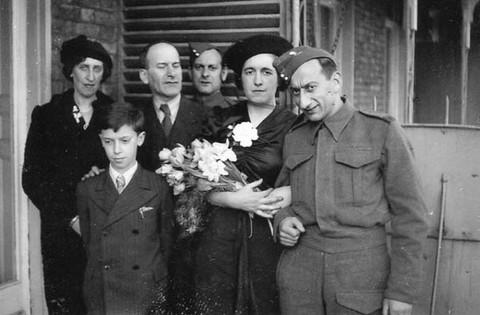 Wedding at Kitchener Camp of Heinrich Vulkan, 1940