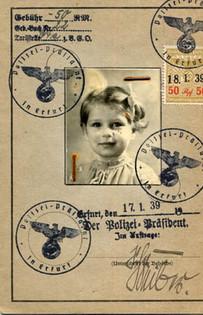 Hanna's passport for leaving Germany (back)