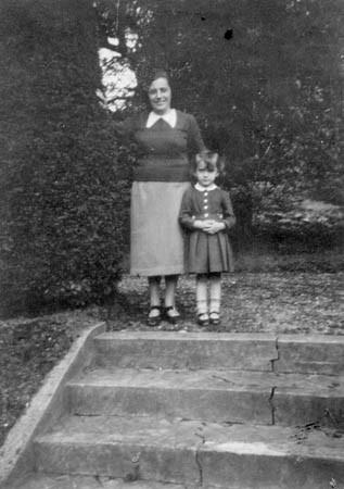With mother in Warrren Wood, 1939