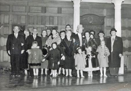 Katinka and Laszlo's wedding, 1957