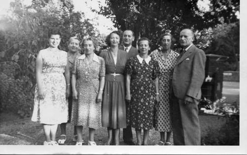 Elsie, Regi & Aranka Vulkan, Betty & Nandor Vulkan, Margit Vulkan, George's parents, Adrienne & Marcel Vulkan