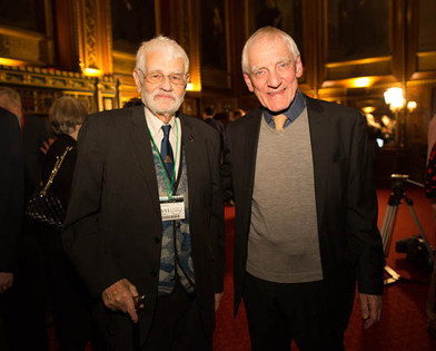 With Tony Grenville at AJR Kindertransport event, 2018