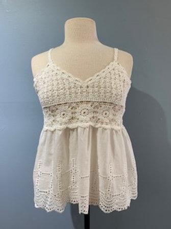 Crochet Top Cotton Cami