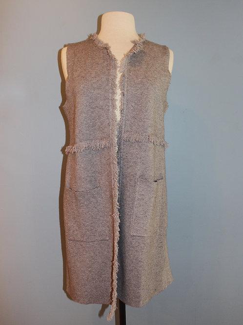 grey fringe vest