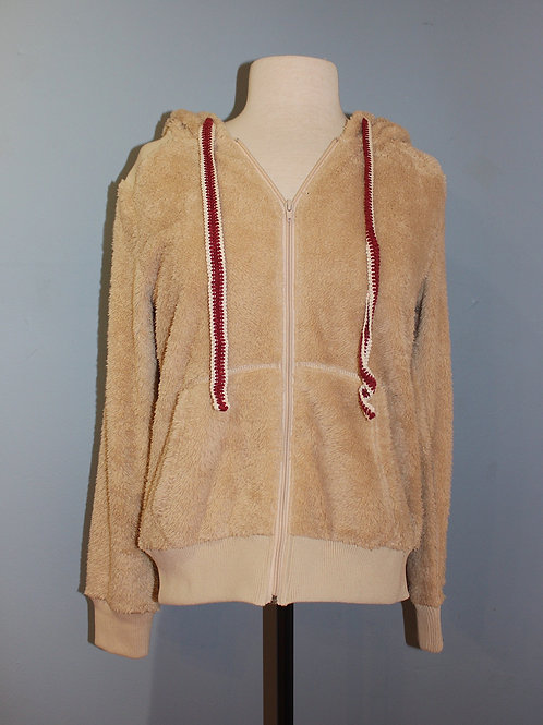 full zip fuzzy hoody