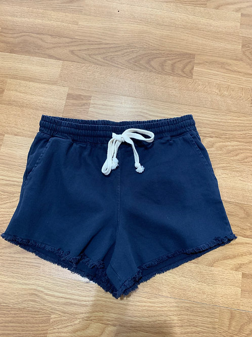 Dark Denim Drawstring Shorts