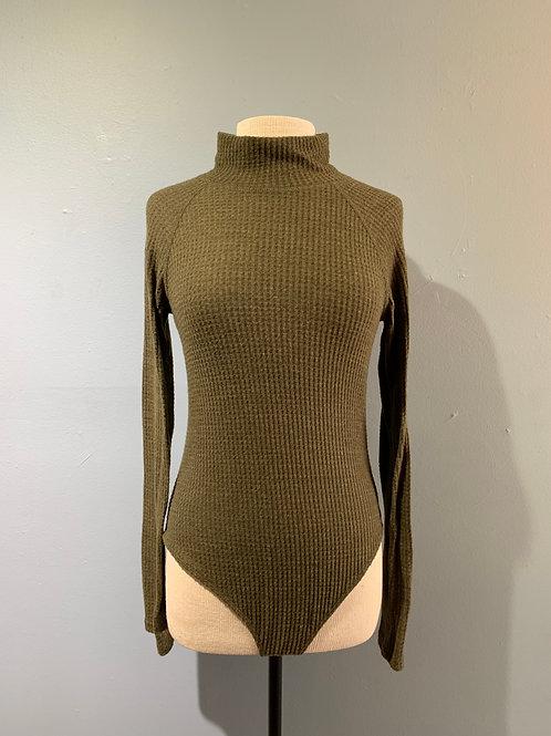 Waffle Knit Bodysuit Olive