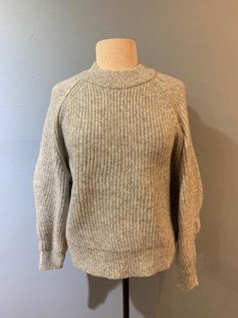 Heather Grey Raglan Sleeve Sweater