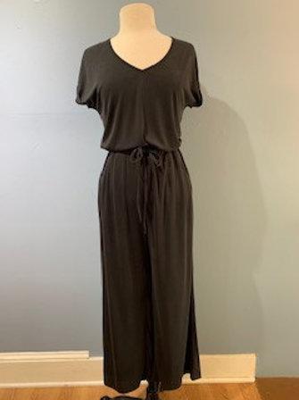 Black Ribbed Jumpsuit