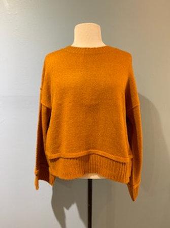 Cinnamon Cropped Wide Sleeve Sweater