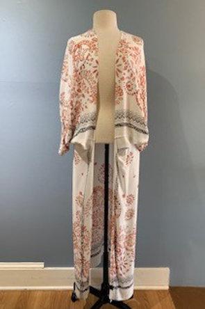 White Print Kimono