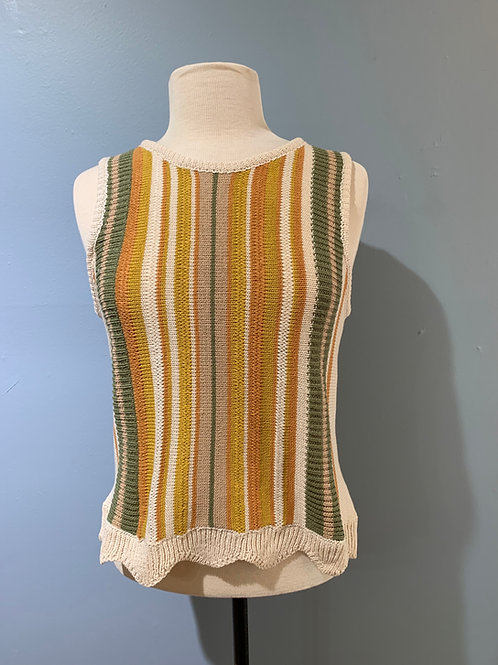 Mustard Stripe Sweater Tank
