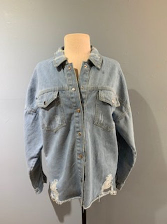 Washed Denim Shacket