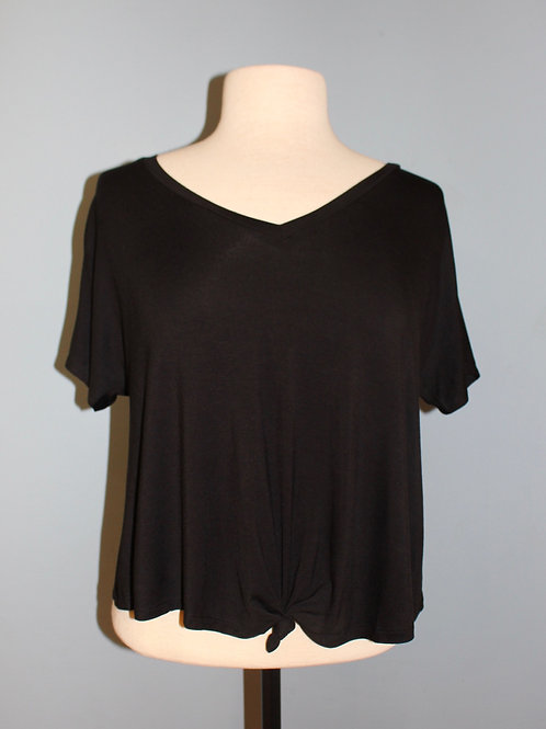 knot front short-sleeve tee