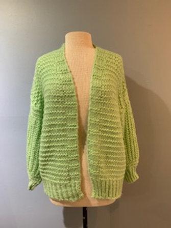 Mint Balloon Sleeve Sweater