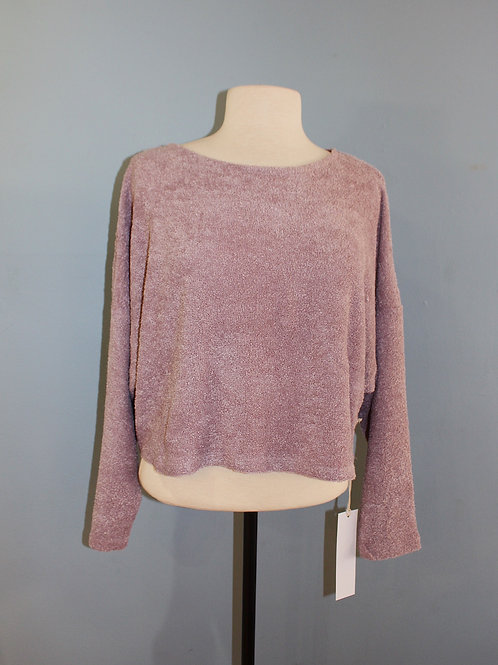 mauve loop knit sweater