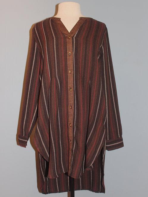 brown striped tunic
