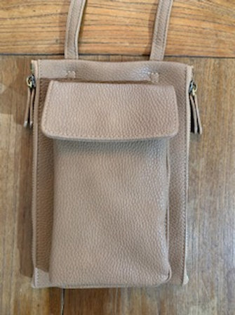 Taupe Crossbody Wallet/Bag