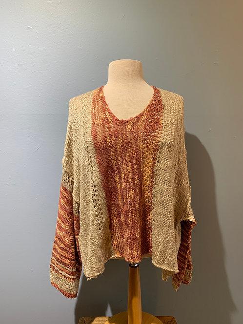 Rust & Cream Boho Sweater