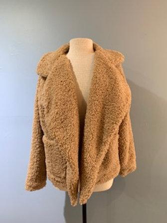 Tan Open Fuzzy Jacket