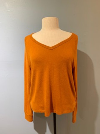 Cinnamon V Neck Sweater