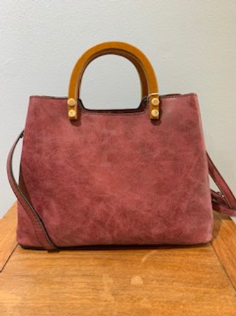 Angie Bag with Wood Handle
