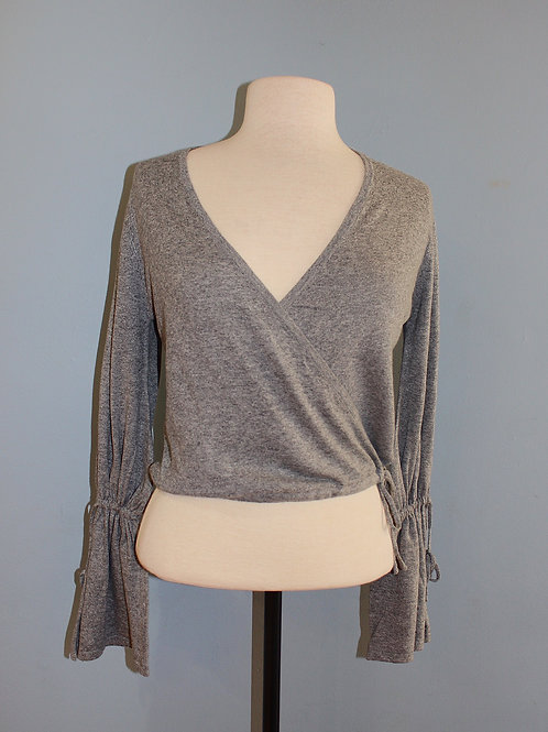 dove grey cropped sweater