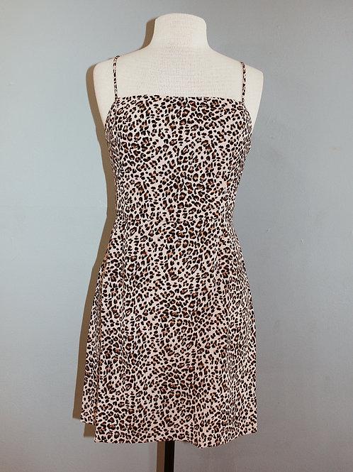 pink leopard tank dress