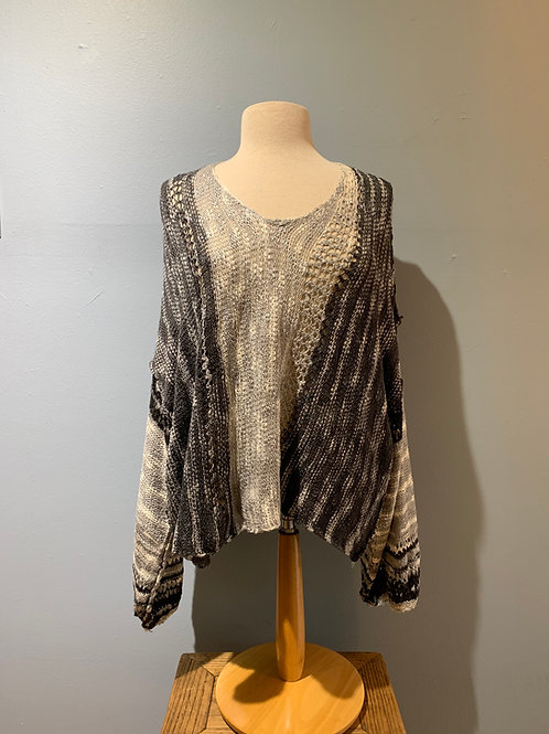 Black & Grey Boho Sweater