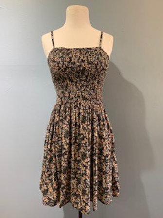 Black Mini Floral Sundress