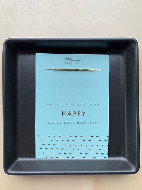 Morse Code Necklace Happy