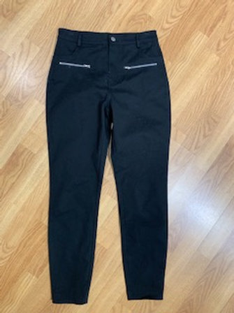 Black Stretch Pants with Zip Pockets