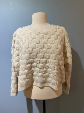 Basket Weave Cropped Sweater
