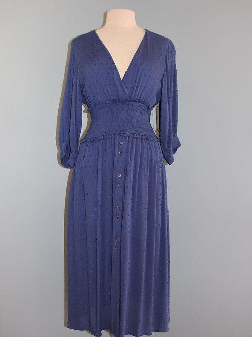 cornflower midi dress