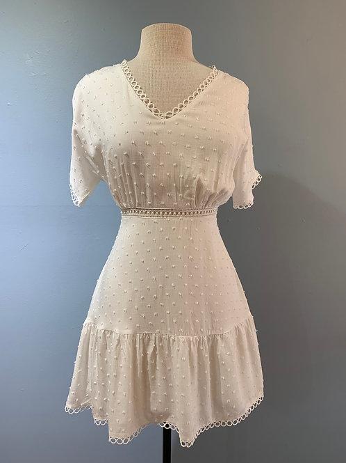 Short Sleeve Dotted Dress