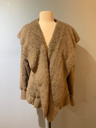 Taupe Teddy Bear Coat
