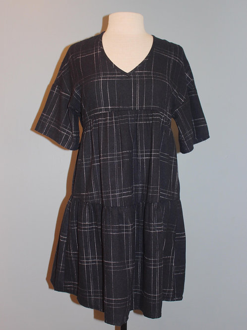 navy windowpane dress