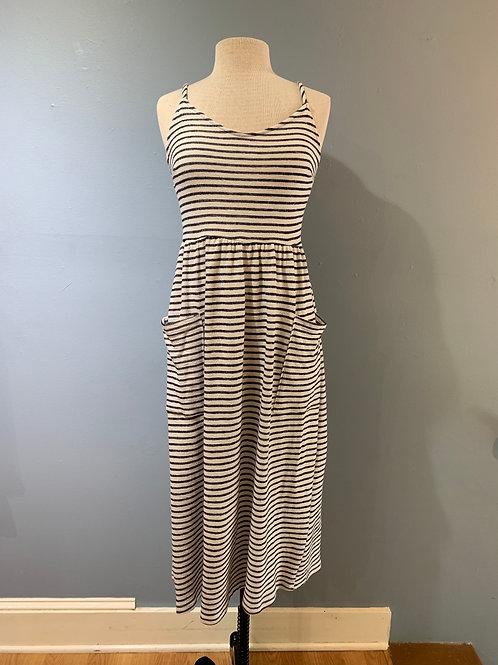 B/W Striped Midi with Pockets