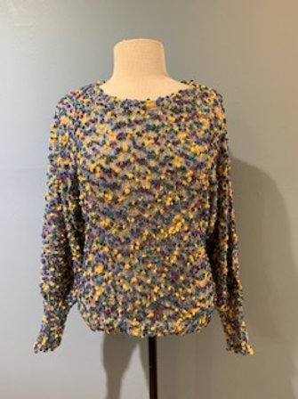 Blue Confetti Sweater